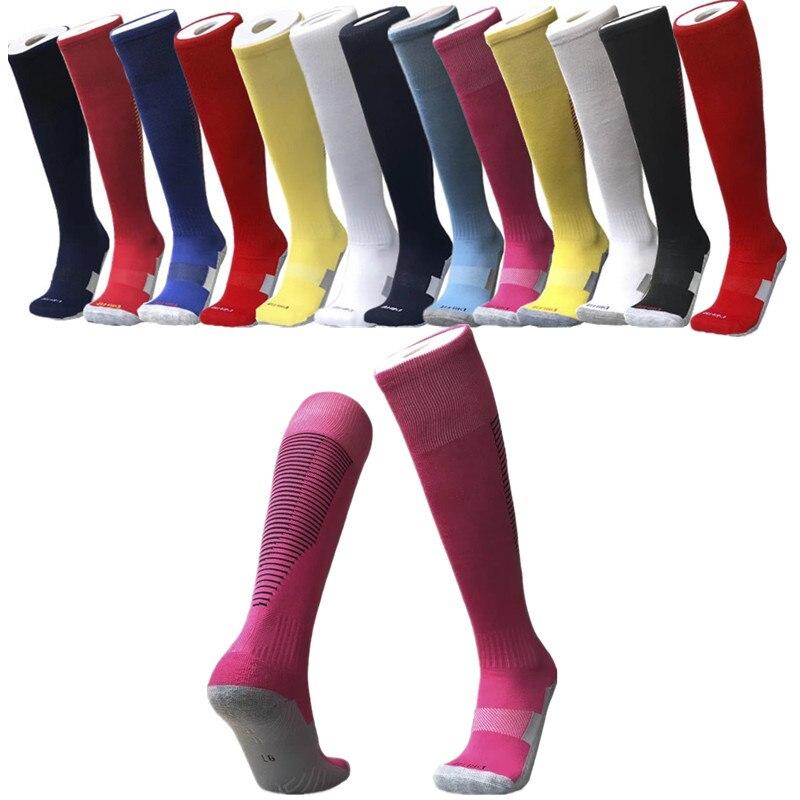 Высокое качество Мужские спортивные длинные и толстые футбольные носки детские