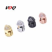 2018 nouvelle marque chevalier casque incrusté Zircon bracelet à breloques Vintage perles accessoires pour couture fabrication de bijoux à bricoler soi-même