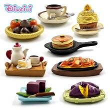 Имитация кофейного торта, фигурки для еды, десерта, миниатюрная фигурка, ролевые игры, кухонная игрушка, кукольный дом, аксессуары для самостоятельного изготовления, детский подарок