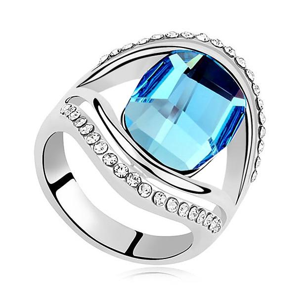 Bijoux bague aneis jóias finas cristais do presente do dia dos namorados de swarovski anéis para mulheres noivado casamento luxo