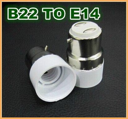 10pcs/lot B22 Bayonet to E14 Mini LED Lamp Fitting Adapter Light Bulb Socket Changer