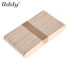 LIDDY 25 pièces jetables en bois langue abaisse bâton de cirage pour épilation spatule outils dépilation bandes de cirage bâtons de bambou