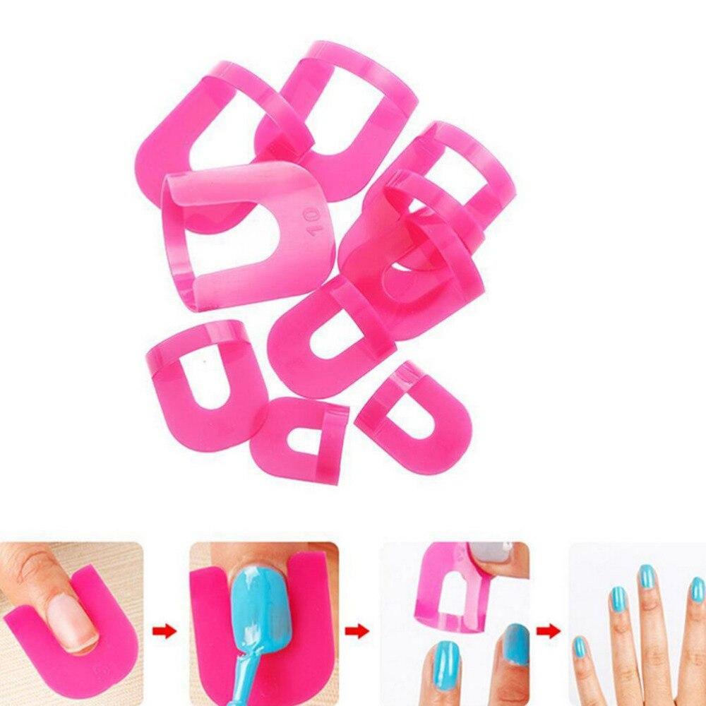 26 pcs Manicure Overloop Tool Franse Nagellak Lijm Voorkomen Tool Nail Gel Model Clip Nail Rand Gradiënt Afdrukken