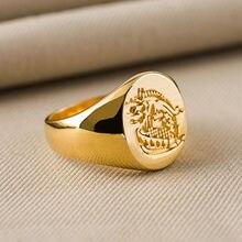 Кольцо Kingsman: тайное кольцо из латуни, подарочное кольцо для косплея из титана, Прямая поставка