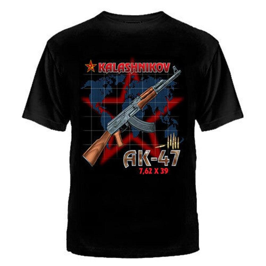 Camiseta con camisetas rusas ruso Putin militar AK47 ropa de hombre ejército Rus más tamaño y colores