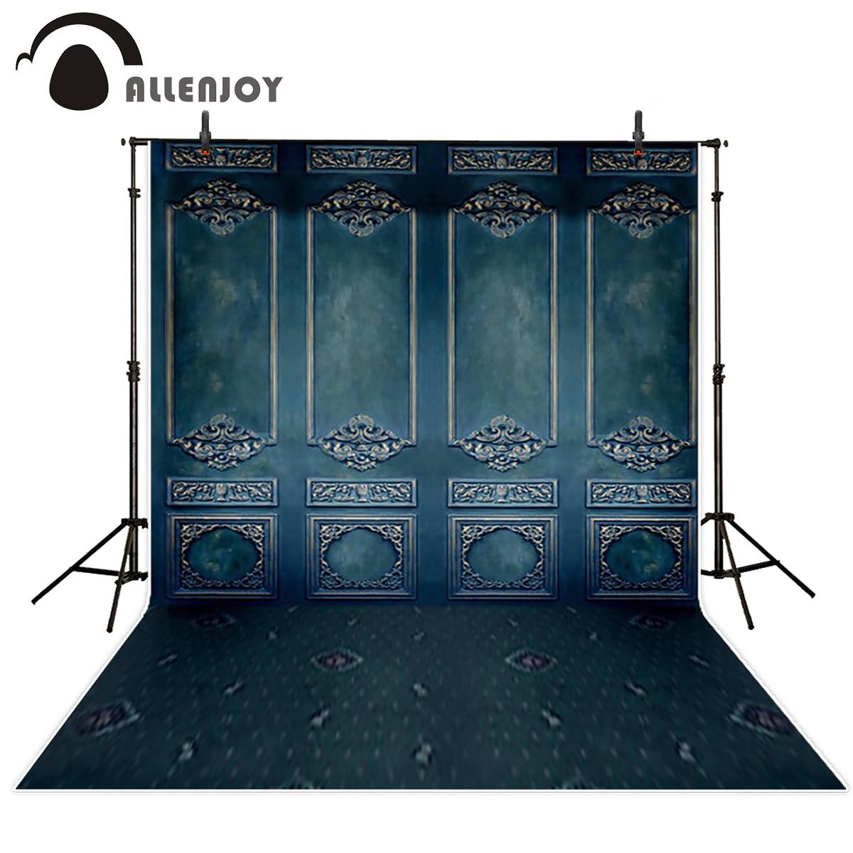 Allenjoy fondo para foto azul oscuro vintage pared de ladrillo FONDO EUROPEO impreso cabina de estudio fotográfico profesional