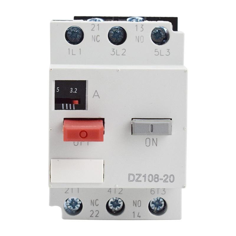 Реле защиты двигателя формованные чехол автомат защити цепи защита от перегрузки 3VE1 выключатель двигателя DZ108-20