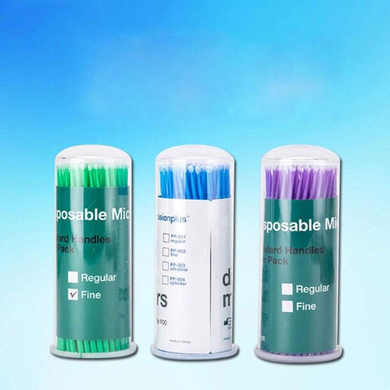 800pcs Disposable Cotton Swab Micro Superfine/Fine/Regular Brush Dental Materials Applicator Sticks Dentist Products
