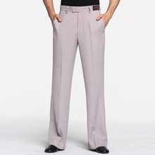 Men Dance Pants Men Ballroom Latin Dance Standard Pants Adults Straight-legged Stripe Trousers Men Samba Rumba Dance Clothing