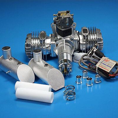 DLE 110CC DLE111 double moteur à essence avec allumage électronique et silencieux pour avion RC