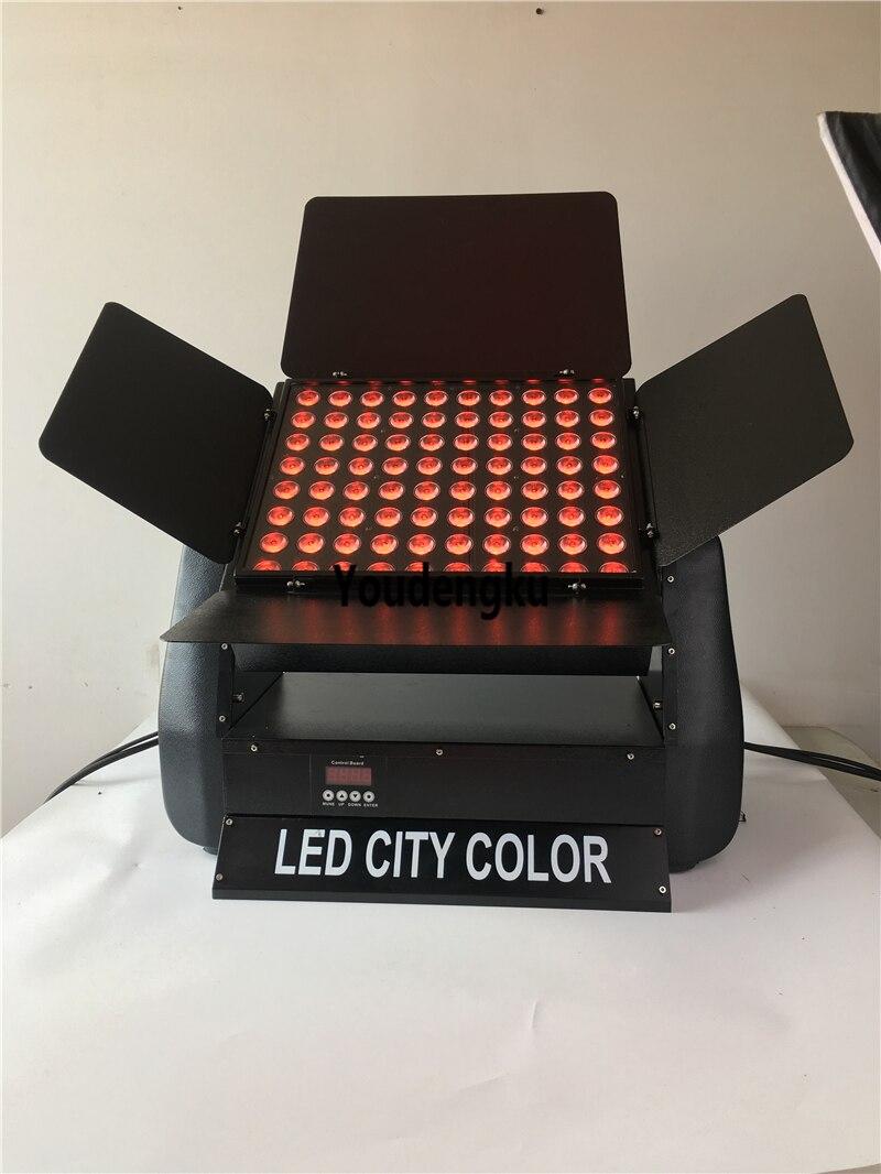 China fluter dmx luz 4 en 1 LED ciudad Color 80X10W RGBW exterior impermeable Luz de lavado de pared