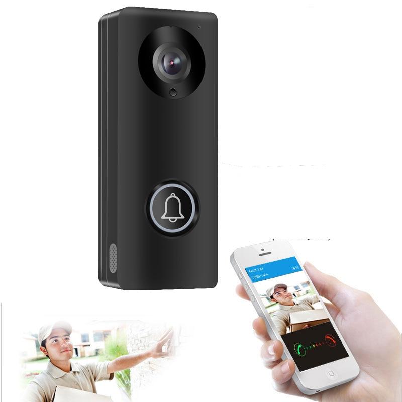 Hd 1080 p câmera wi fi vídeo porta telefone campainha sem fio intercom suporte cartão sd para android ios smartphone vista remota desbloqueio
