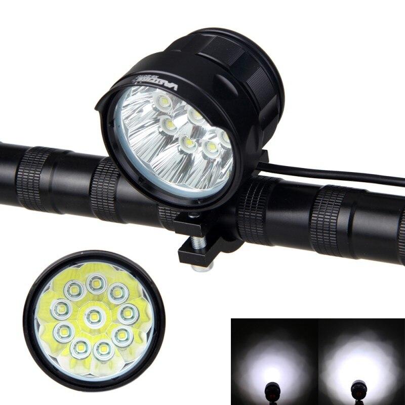 Helle 20000 LM 10x XM-L T6 LED Fahrrad Lampe Front Bike Scheinwerfer mit 16000 mah Akku und Rot Laser rücklicht