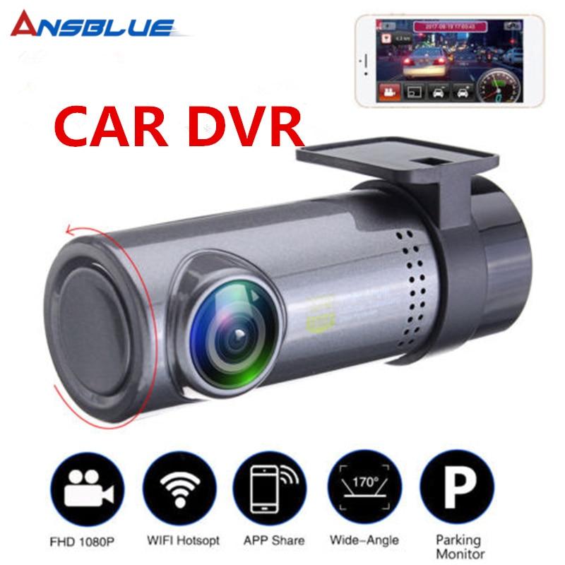 Azul 2019 nuevo HD 1080p oculto coche WiFi DVR cámara de vídeo del vehículo Dash Cam visión nocturna Envío Directo