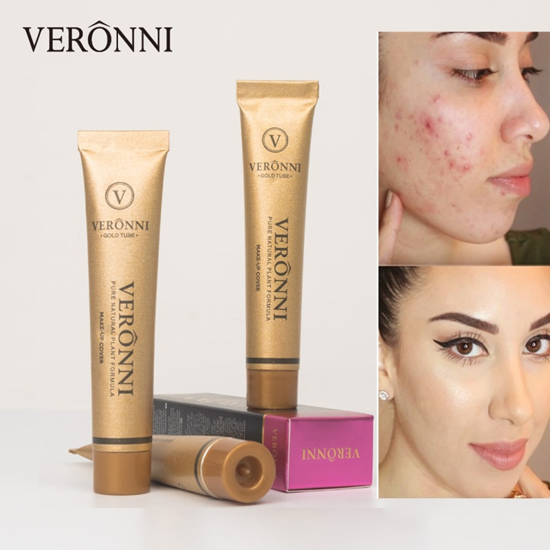 VERONNI Makeup Concealer Full Professional Corrector Face Primer Contour Concealing Dark Circle Cover Base Foundation Cream