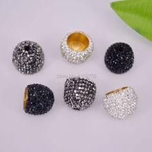 Gros bricolage 20 pièces pavé strass cristal extrémités boucle perle casquettes pour la fabrication de bijoux trouver dans le trou de 7mm