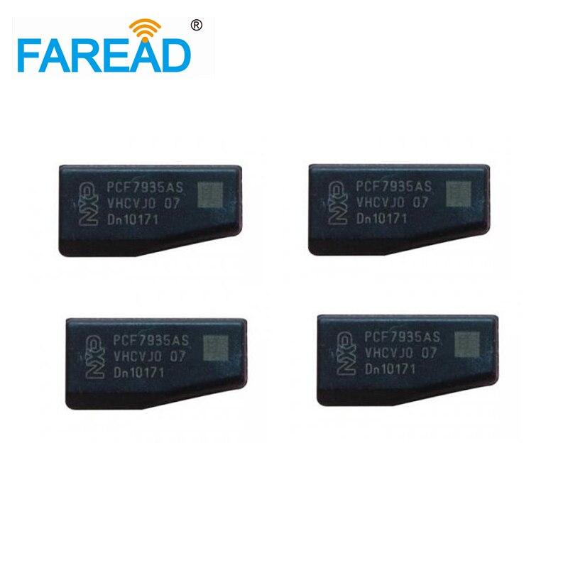 Frete Grátis 10 pcs/Tijolos De Alta Qualidade Tag transponder chip PCF 7935AS/AA ID44 para Chave Do Carro Tag