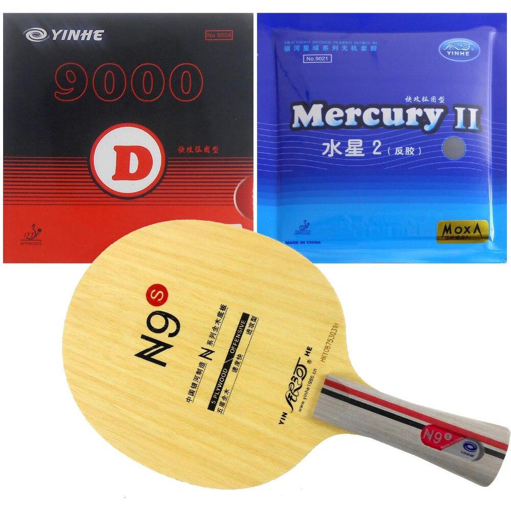 Original Pro raqueta de tenis de mesa Galaxy Yinhe N9swith Galaxy 9000D y mercurio II mucho Shakehand FL