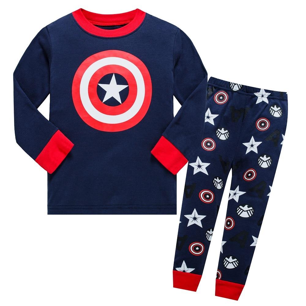 Teaegg маленьких герой Ironman пижамный комплект 2 шт. Топ & Bottom дети 2018 весна пижамы