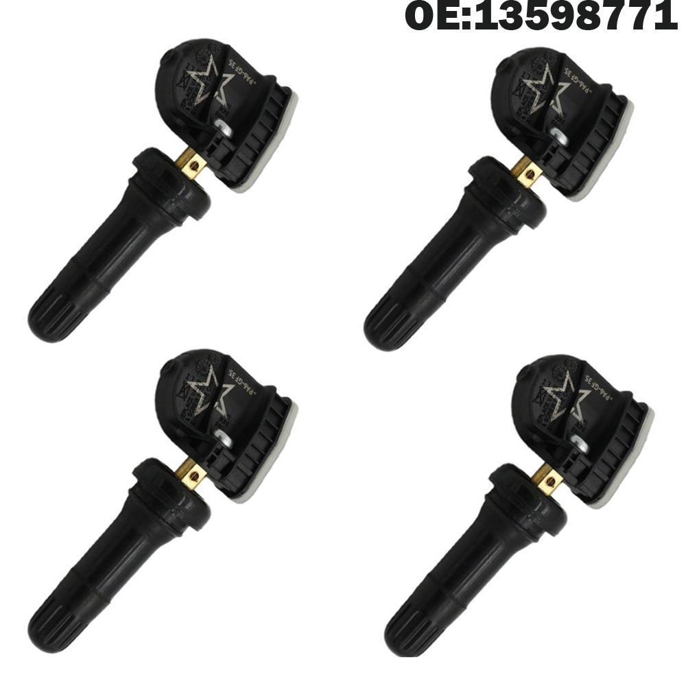 4 Uds coche Sensor de monitor de presión de neumático TPMS por Buick 13598771 GL8 Chevrolet Colorado Cadillac ATS L