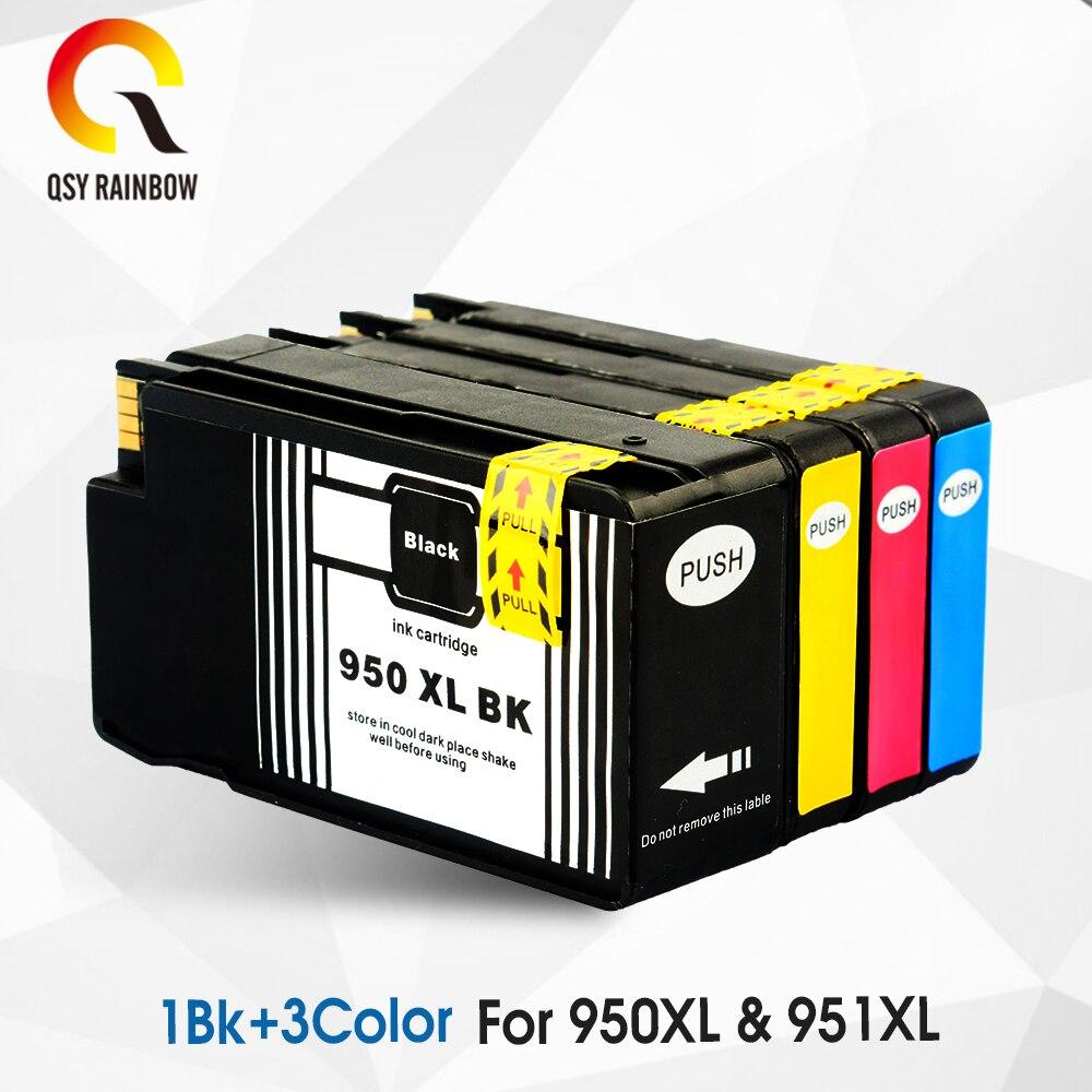 Cmyk fornece 4 peças 950xl substituição do cartucho de tinta para hp 950 951 xl para officejet pro 251dw 276dw pro 8100e 8600 8610 8615