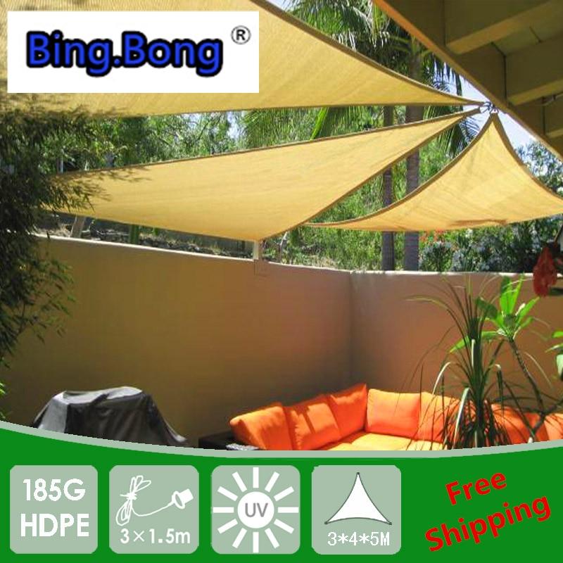 مظلة خارجية ، شبكة HDPE ، مظلة ، مثلثات مضادة للأشعة فوق البنفسجية ، 3 ، 4 ، 5 م ، حديقة ، شاطئ ، toldos ، شرفة
