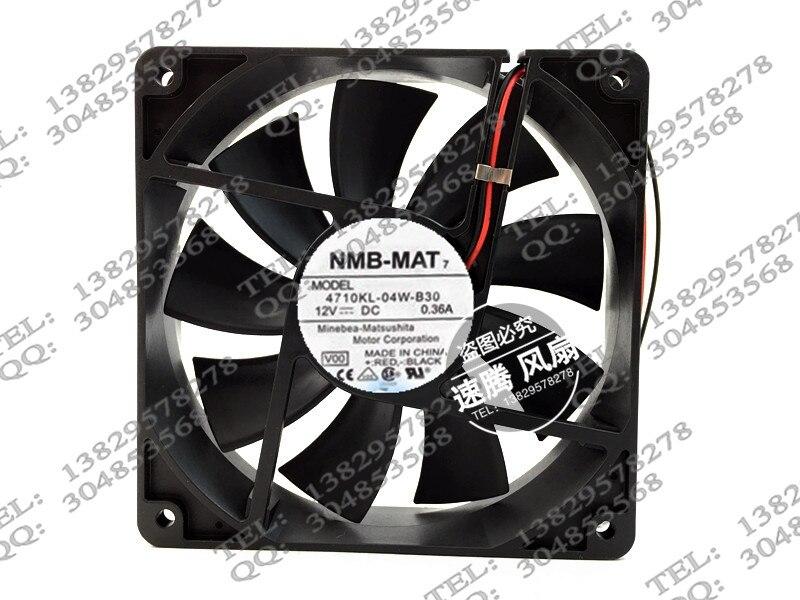4710KL-04W-B30 new original 12CM12025 12V0.36A dual ball bearing cooling fan