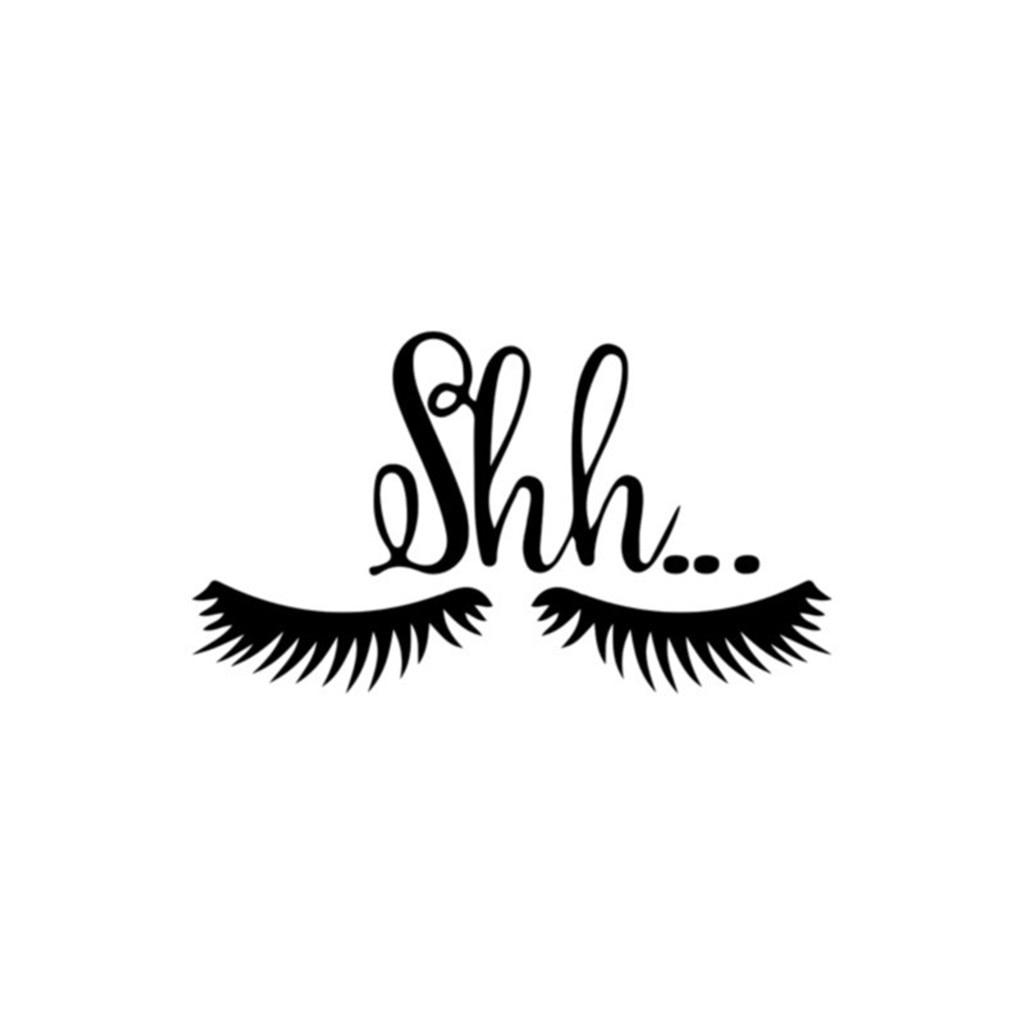KAKUDER, pestañas de 15x26,5 cm, bonito ojo, maquillaje, pegatina de pared con personalidad, pegatina para puerta, decoración gráfica negra para el hogar, dropshipping 412