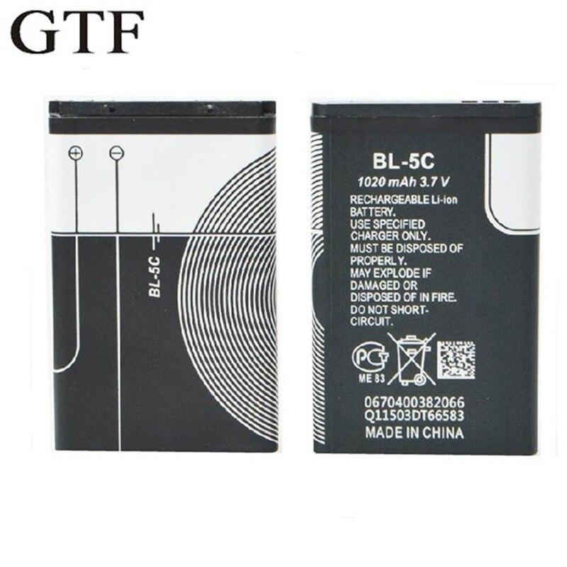 GTF 3,7 в 1020 мАч батарея для телефона Nokia маленькая колонка с картой радио батарея BL-5C литий-полимерные батареи
