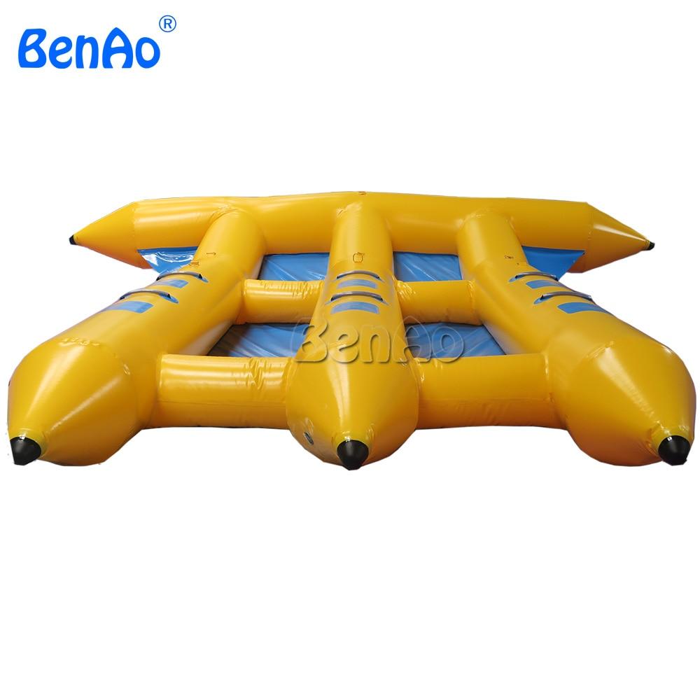Бесплатная доставка B018 BENAO, надувная лодка с изображением банана на 6 человек/надувная Летающая рыбка из ПВХ, для водных игр