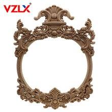 VZLX autocollant dangle de sculpture sur bois   Autocollant cadre dappliques en bois, porte murale, Figurines cadre Photo, meubles de décoration de maison