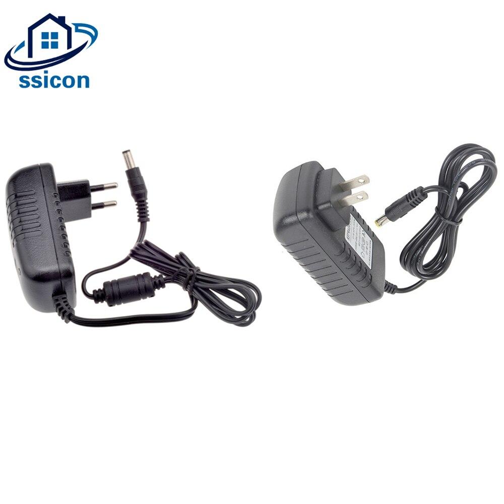 5 Pieces DC 12V 2A Power Adapter AC100-240V Lighting Transformers Output Supply EU US Plug For CCTV Camera