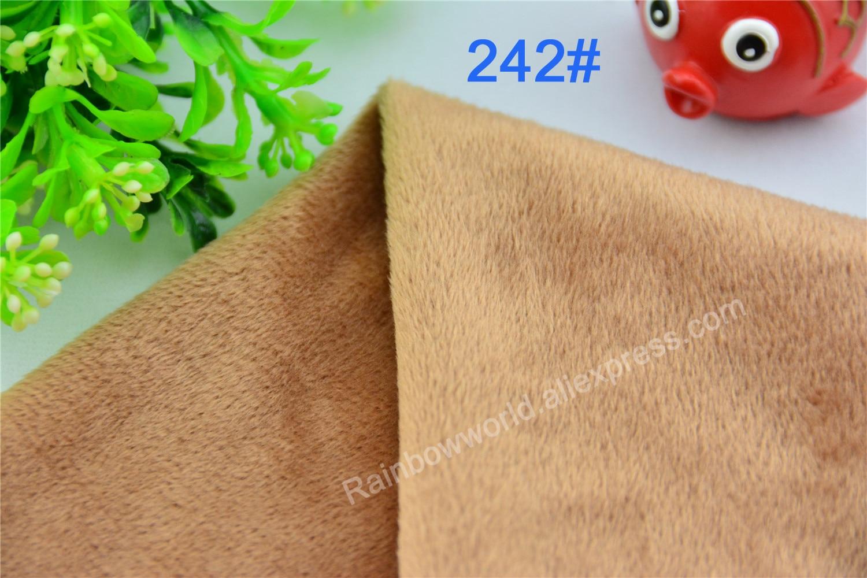 242# Brown Color Super Soft Short Hair 2-3mm Fleece Fabric Velvet Microfiber Velboa for DIY Patchwork Toy Shoes Sofa Pillow