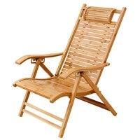 Modern Foldadble Bamboo Garden Chair Recliner Reclining Back Indoor/Outdoor Balcony Furniture Chair For Patio Porch Balcony Deck