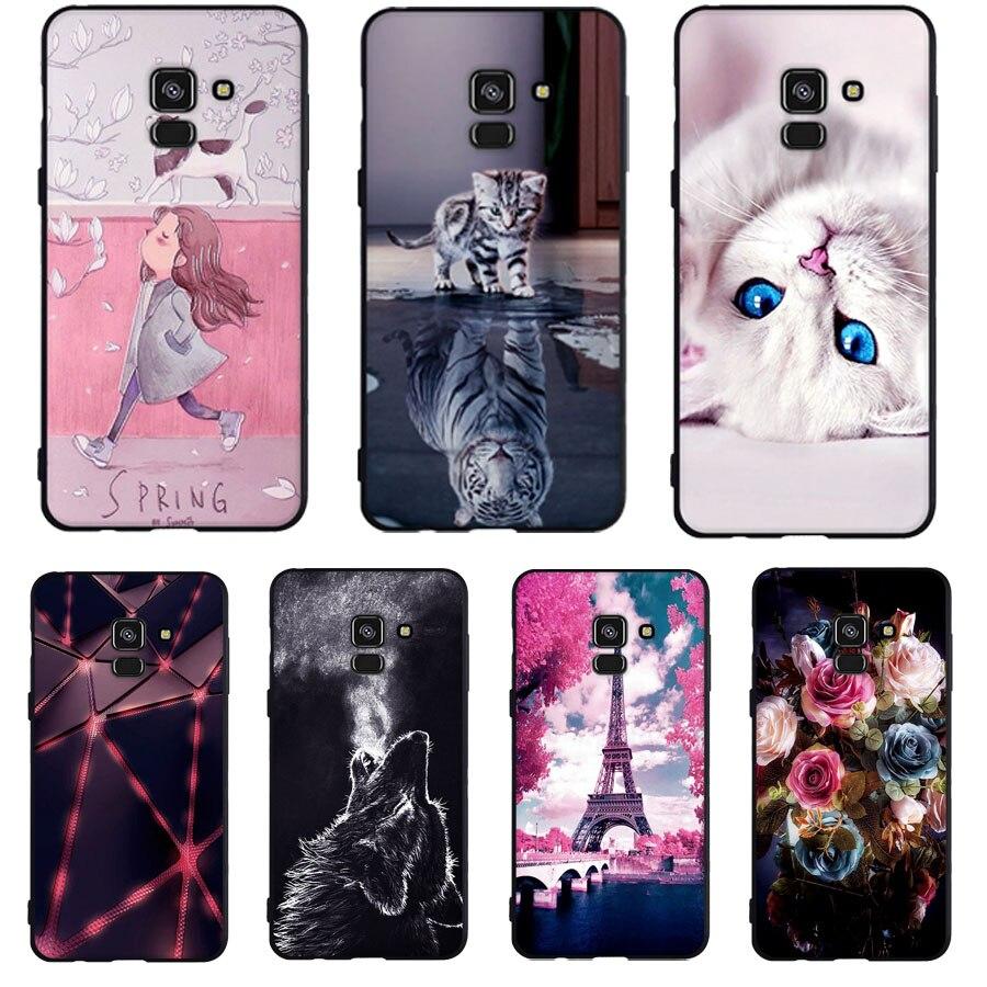 Funda para Samsung Galaxy A3 A5 2015 A8 Plus 2018 funda de silicona suave TPU funda para Samsung Galaxy A3 A5 2015 A8 2018 funda