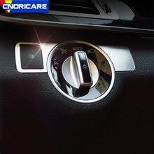 Boutons de commande de commutateur de phare de voiture cadre décoration autocollant garniture pour Mercedes Benz A B C E classe CLA GLA ML GL GLK GLE GLS