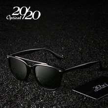 20/20 ماركة نظارات الموضة الرجال الاستقطاب القيادة مزدوجة جسر نظارات شمسية سوداء الذكور Oculos Gafas نظارات PL308