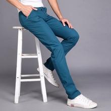 Men Casual Pants spring summer New Fashion multi color Slim long pants Straight  Male Pocket mens trousers pantalon hombre