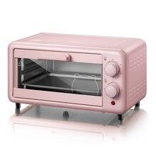 Cozinhar em casa Mini 11L Forno de Aço Inoxidável Forno Elétrico Forno de Pizza Bolo Torradeira Utensílios de Cozinha DKX-D11B1 220 V/800 W