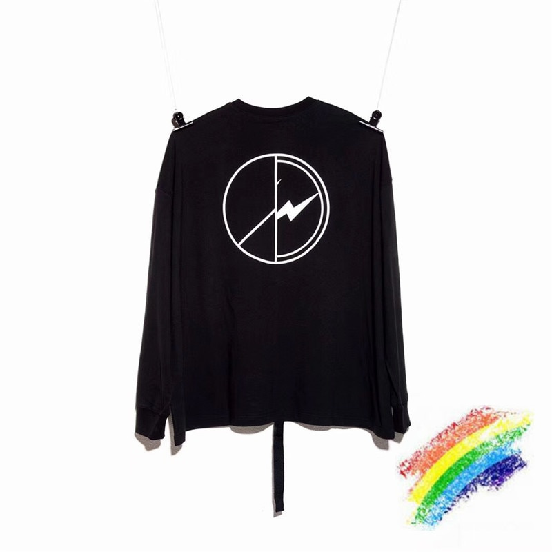 Onesize Peaceminusone FRAGMENT DESIGN hombres mujeres 11 mejor calidad Top Tees Oversize Camisetas manga larga negro