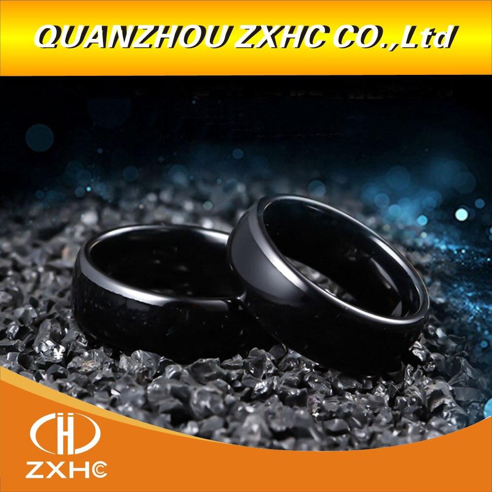 125 khz/13.56 mhz rfid preto cerâmica anel de dedo inteligente usar para homem ou mulher