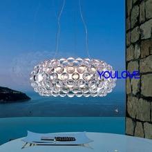 Modern Foscarini Caboche Jose Beads Pendant Lights Fixture Teardrop Droplights Home Indoor Dining Room Bed Room Foyer Club Lamps