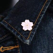 Belles fleurs de cerisier broche émail plante fleur broches pour femmes vêtements veste sac à dos broches badges bijoux accessoires