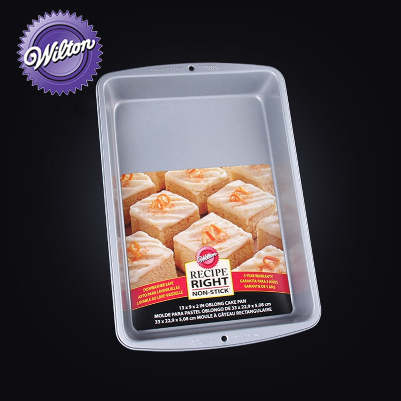 Wilton receta no-Palo rectangular pastel Pan bandeja para hornear Pan de pasteles a Brownies y todo en entre 13x9 pulgadas