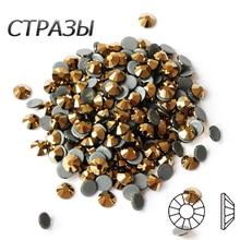 2058HF toutes les tailles cristal AURU correctif Strass cristaux Flatback Strass fer Strass bricolage décoration de conception de robe