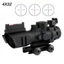 4x32 Acog Riflescope 20mm Zwaluwstaart Reflex Optics Scope Tactical Sight Voor Hunting Gun Rifle Airsoft Sniper Vergrootglas
