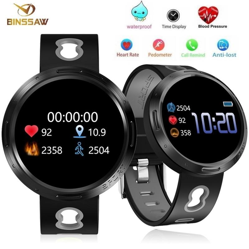 BINSSAW Sport Smart Watch Android Ios Fitness Tracker Blood Pressure Heart Rate Tracker Men Wristband Women Multi-language Watch