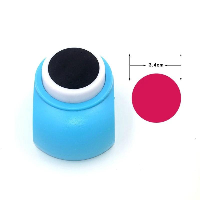 0,6 cm-7,5 cm círculo perforar perfurador de EVA chico s scrapbooking de scrapbooking golpe de papel redondo golpe chico perforadora