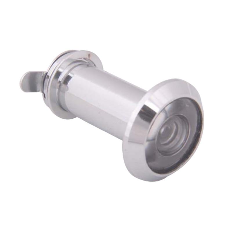 ¡Caliente! Visor de puerta de mirilla con gran angular de 200 grados, 35-60mm, Visor de puerta mirilla Spettatore, tono plateado, precio al por mayor
