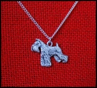 schnauzer dog necklace handmade necklace embossed pendant jewelry silver color plated fast delivery